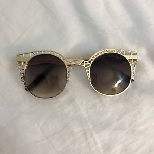 Accessories - 2/$10 Gold Cateye Sunglasses UV400 Protection